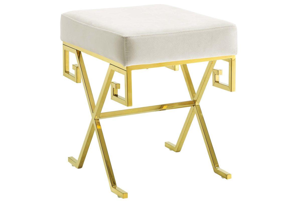 Twist Velvet Bench in Ivory by Modway from Gardner-White Furniture