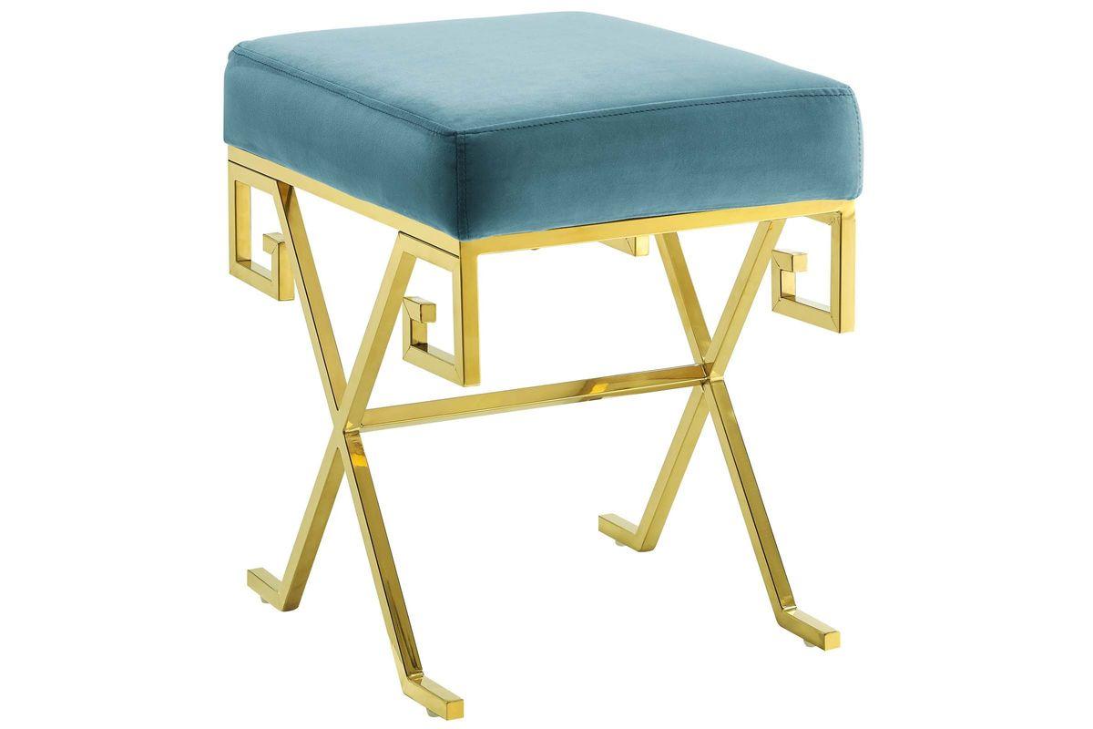 Twist Velvet Bench in Teal by Modway from Gardner-White Furniture
