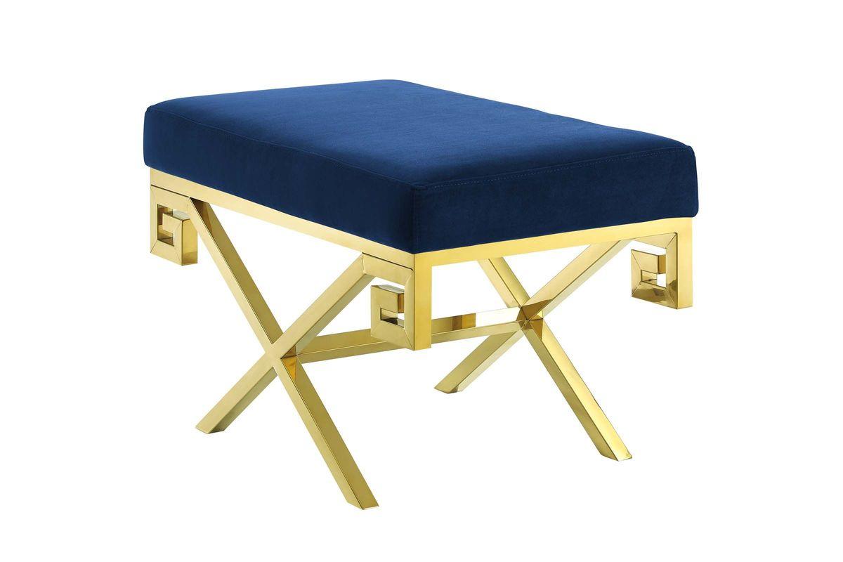 Rove Velvet Bench in Navy by Modway from Gardner-White Furniture