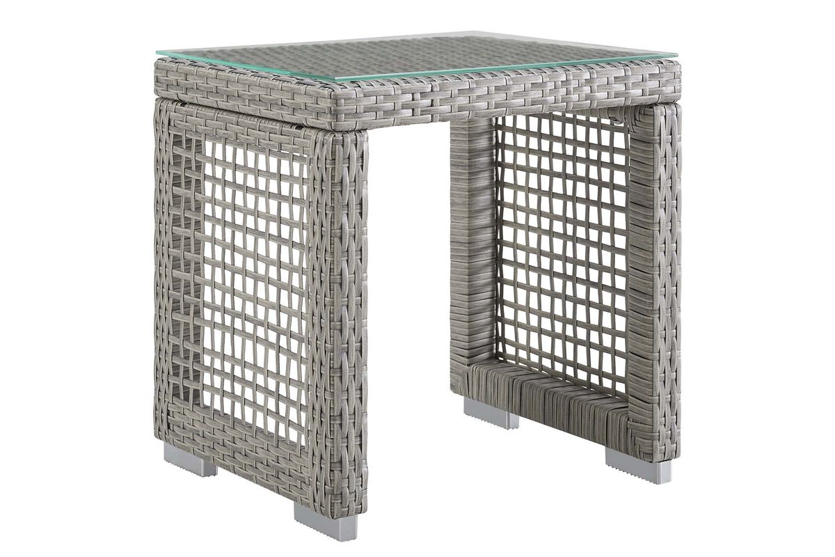 Aura Outdoor Patio Wicker Rattan Side Table by Modway from Gardner-White Furniture