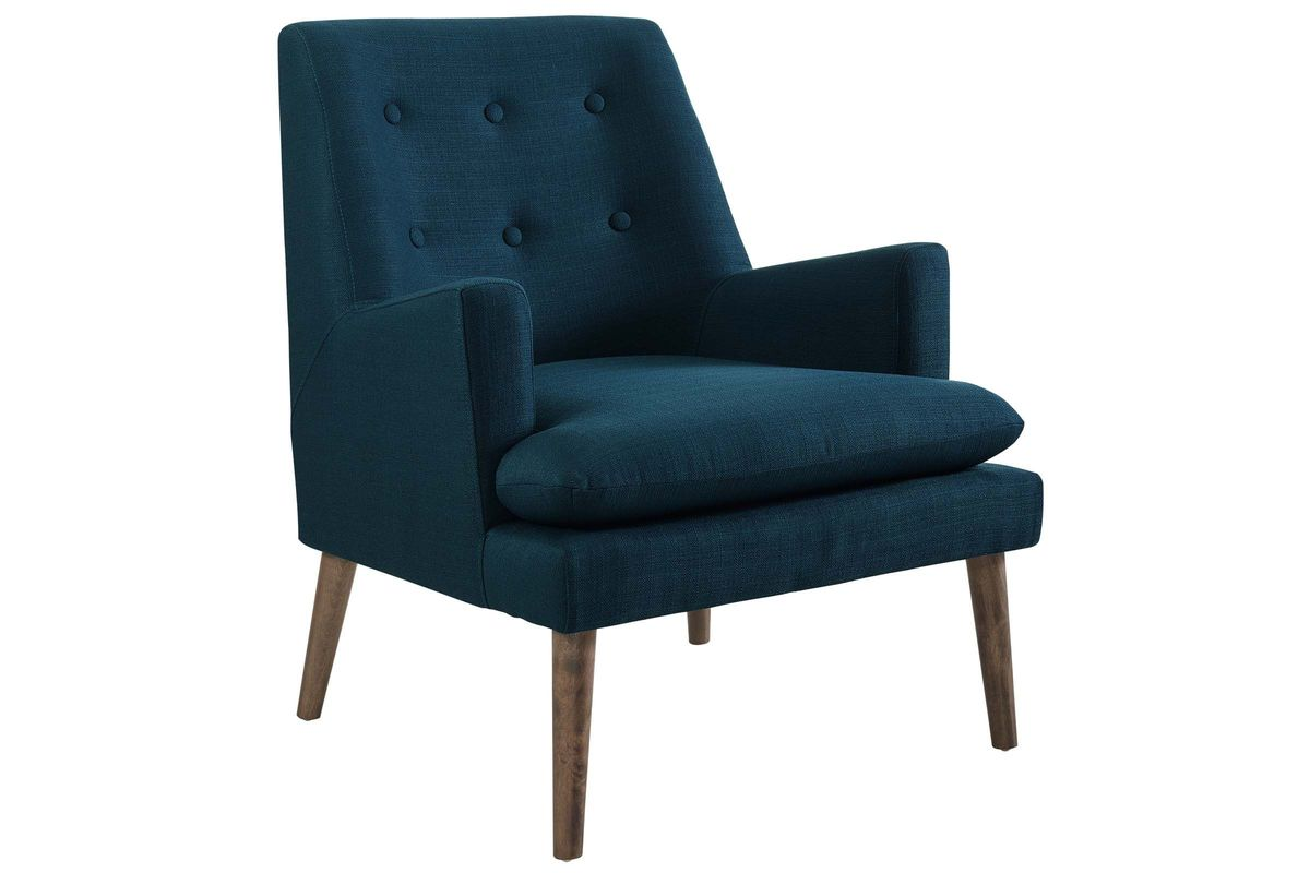 Leisure Upholstered Lounge Chair in Blue by Modway from Gardner-White Furniture