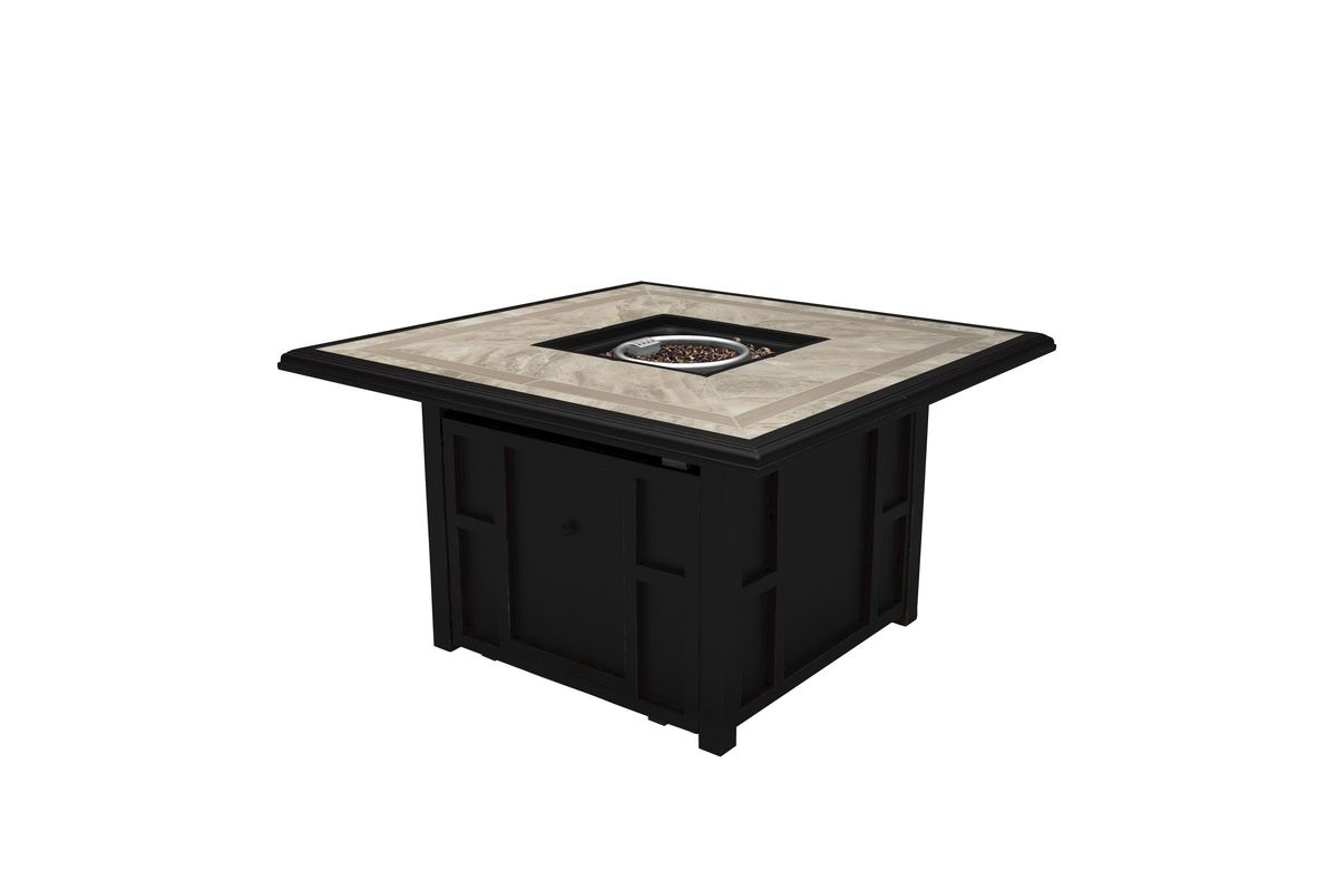 Chestnut Ridge Square Fire Pit Table by Ashley® from Gardner-White Furniture