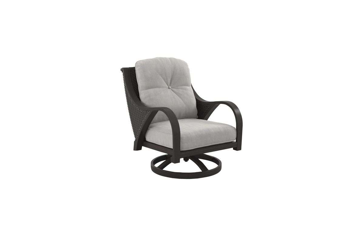 Marsh Creek Outdoor Swivel Lounge Chair  by Ashley® from Gardner-White Furniture
