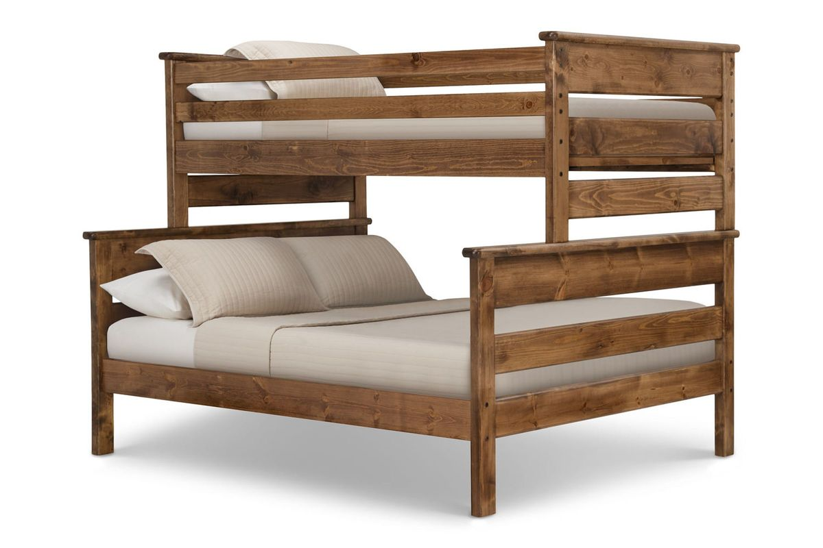 Laguna Chestnut Twin Over Full Bunk Bed At Gardner White