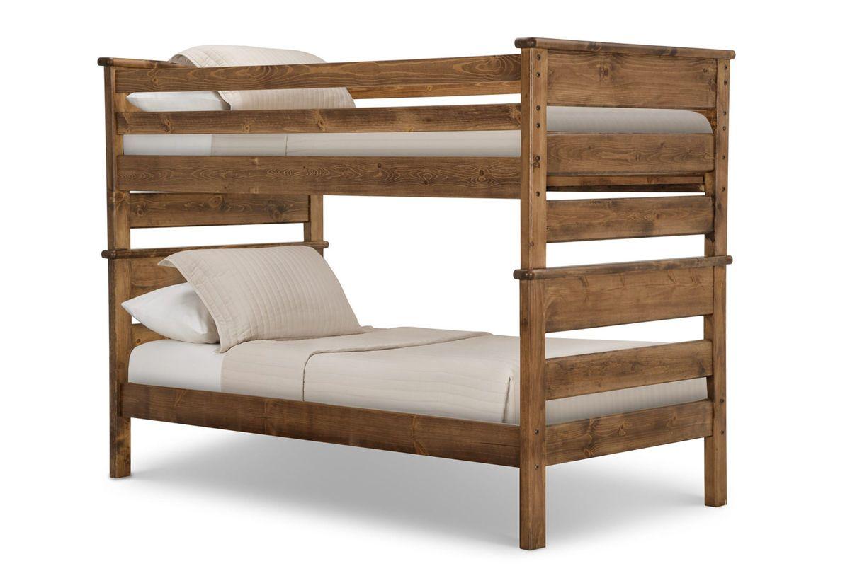 Laguna Chestnut Twin-Over-Twin Bunk Bed from Gardner-White Furniture