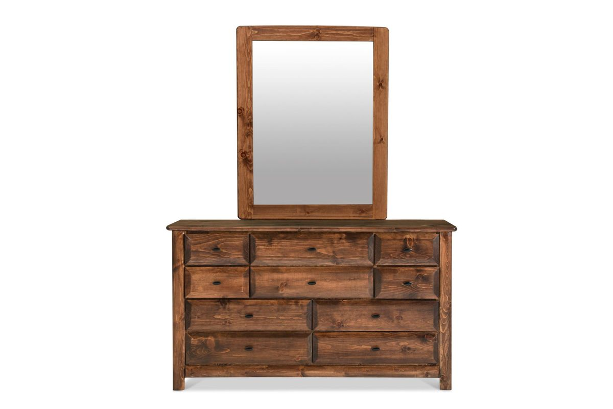 Laguna Chestnut Dresser + Mirror at Gardner-White