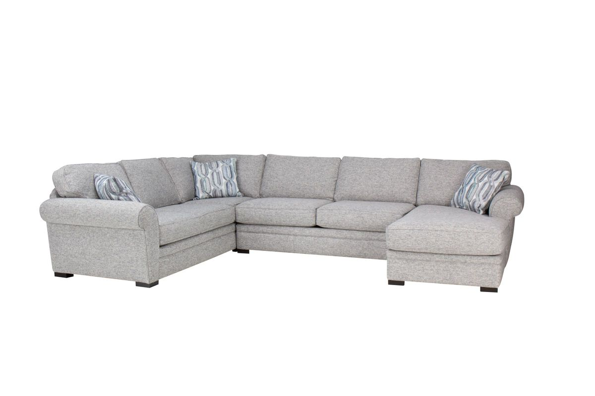 Whitney Sectional with Chaise on the Right from Gardner-White Furniture