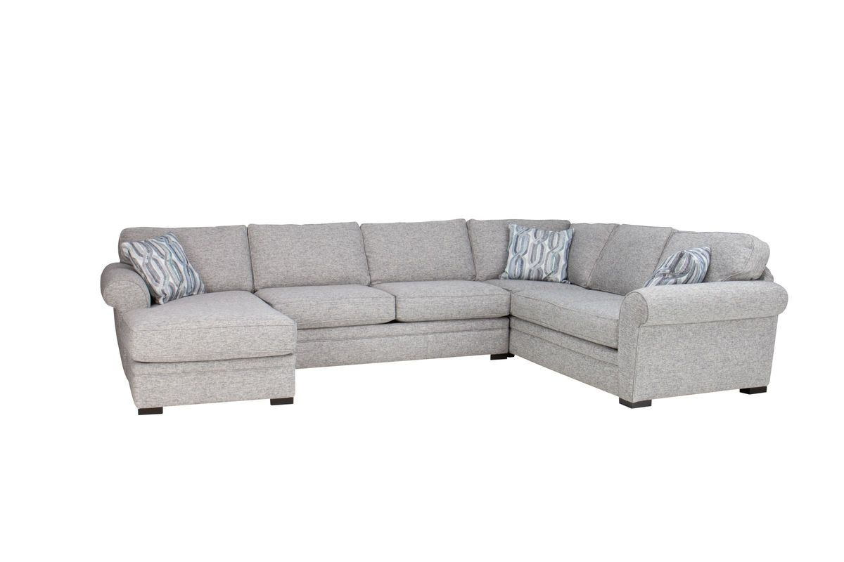 Whitney Sectional with Chaise on the Left from Gardner-White Furniture