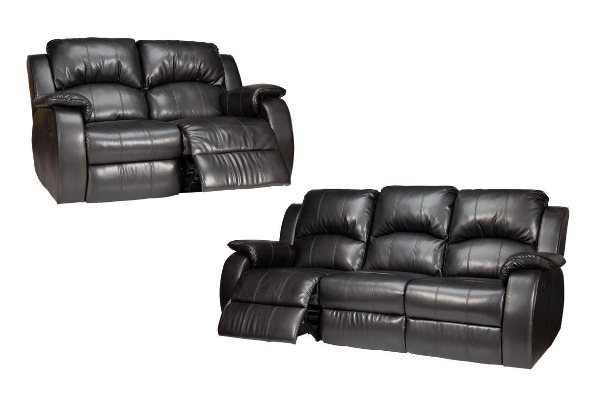 Tahoe Reclining Bonded Leather Sofa + Loveseat
