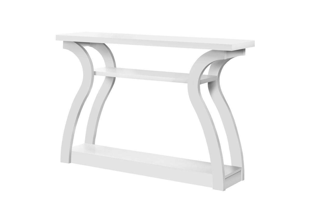 Super White 47 Hall Console Accent Table By Monarch Home Interior And Landscaping Ologienasavecom