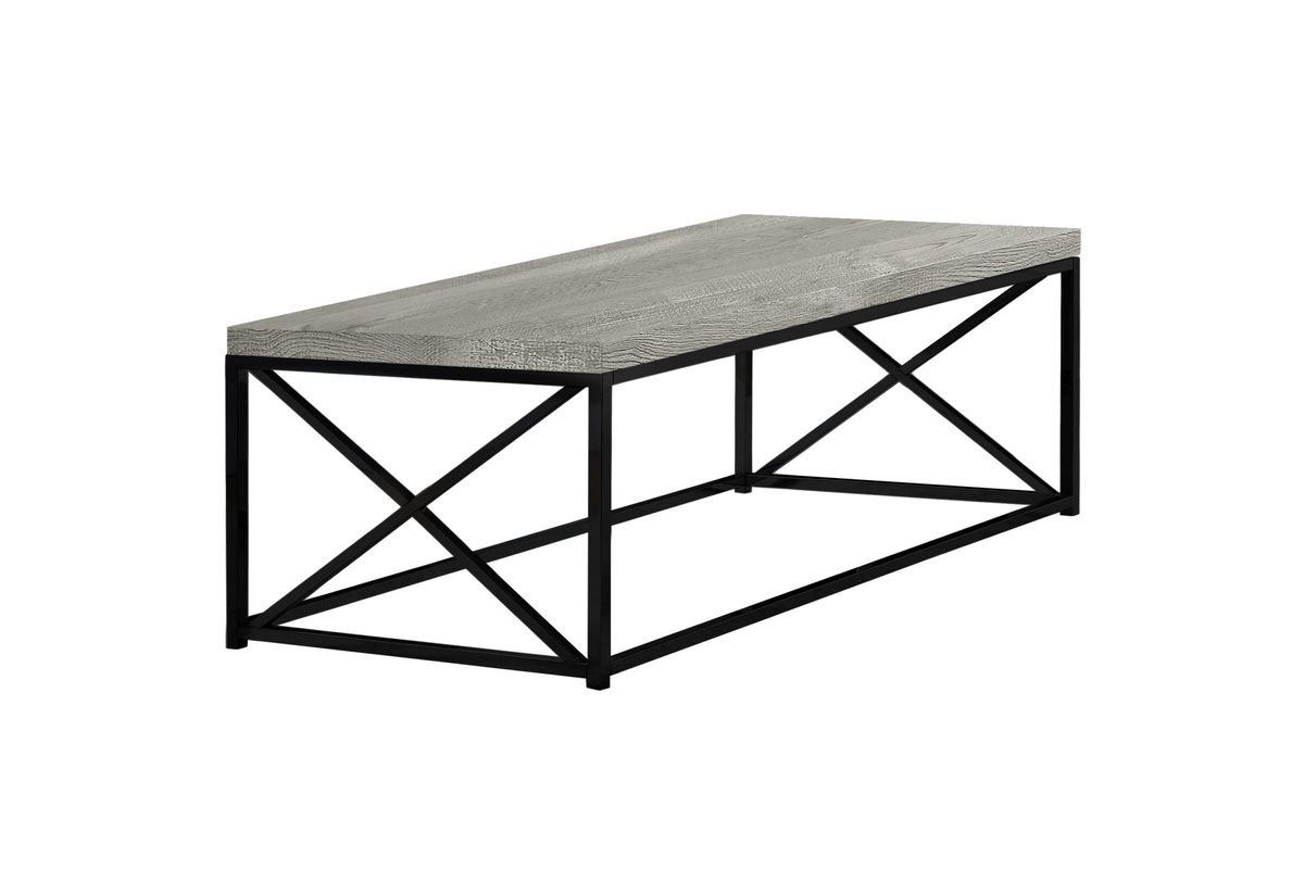 Grey Reclaimed Wood Coffee Table by Monarch from Gardner-White Furniture