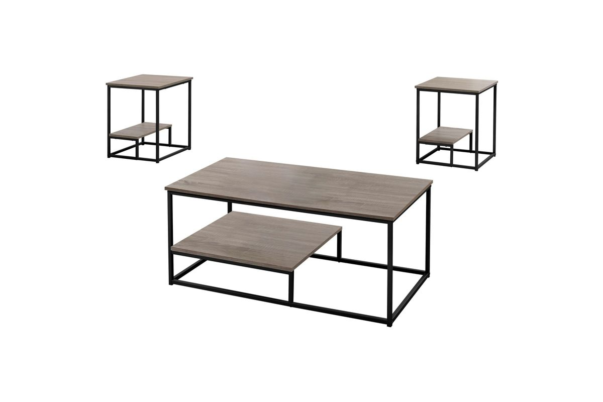 Dark Taupe 3-Piece Table Set by Monarch from Gardner-White Furniture
