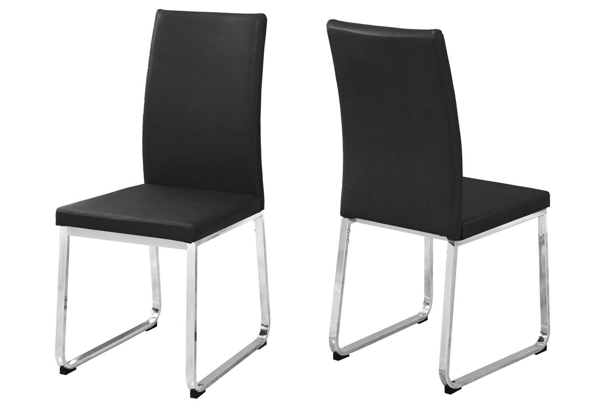 Cool Black Chrome Dining Chair Set Of 2 By Monarch Caraccident5 Cool Chair Designs And Ideas Caraccident5Info