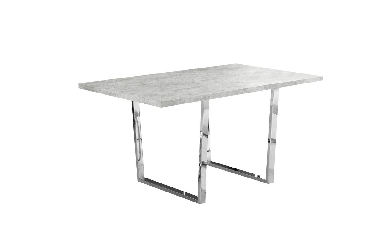 Grey & Chrome Dining Table  by Monarch from Gardner-White Furniture