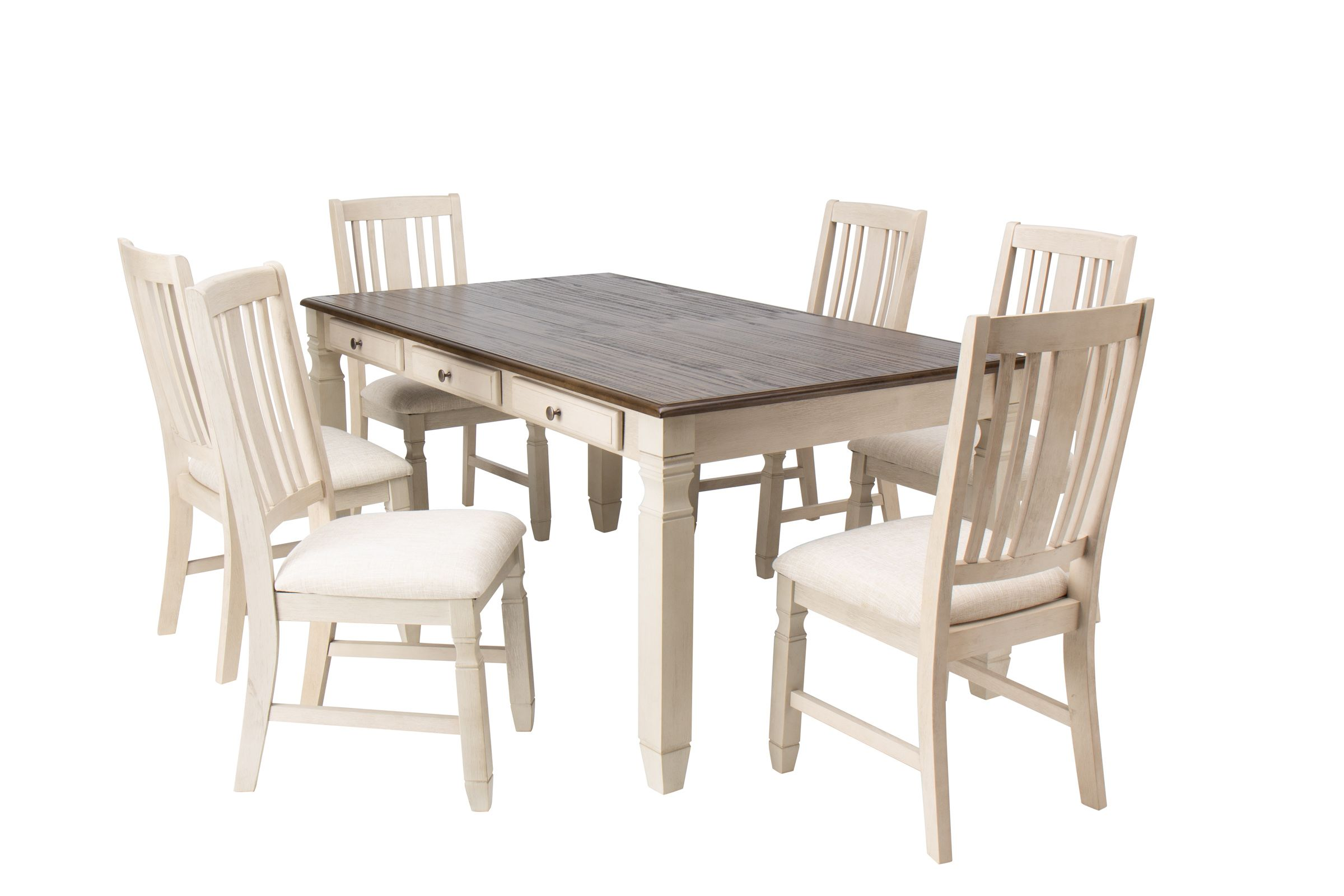 Venus Dining Table 6 Side Chairs