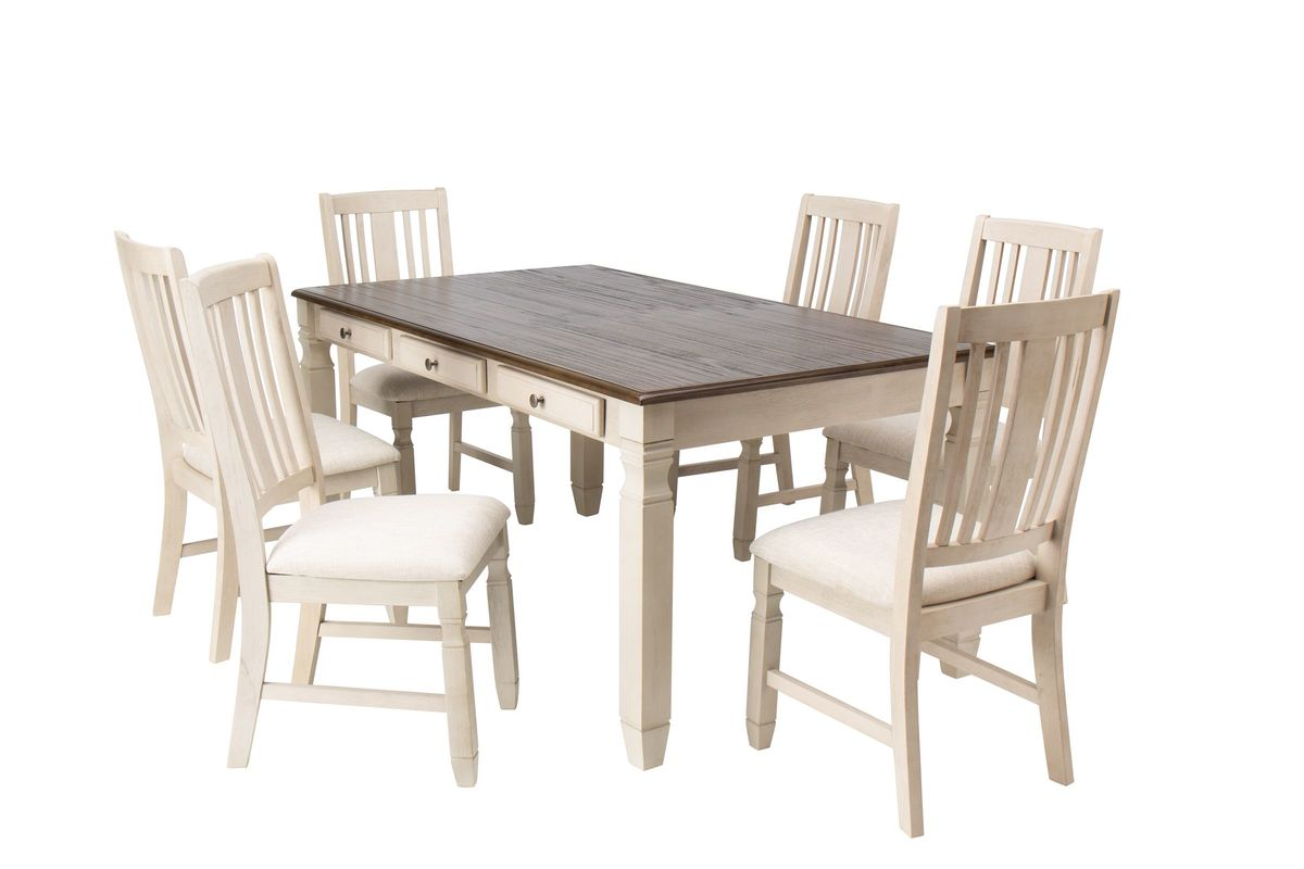 Venus Dining Table + 6 Side Chairs from Gardner-White Furniture