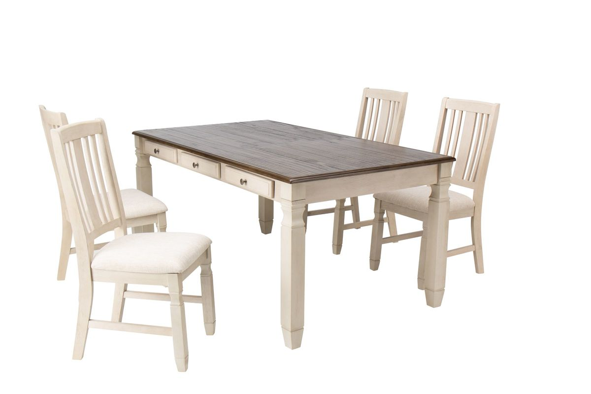 Venus Dining Table + 4 Side Chairs from Gardner-White Furniture
