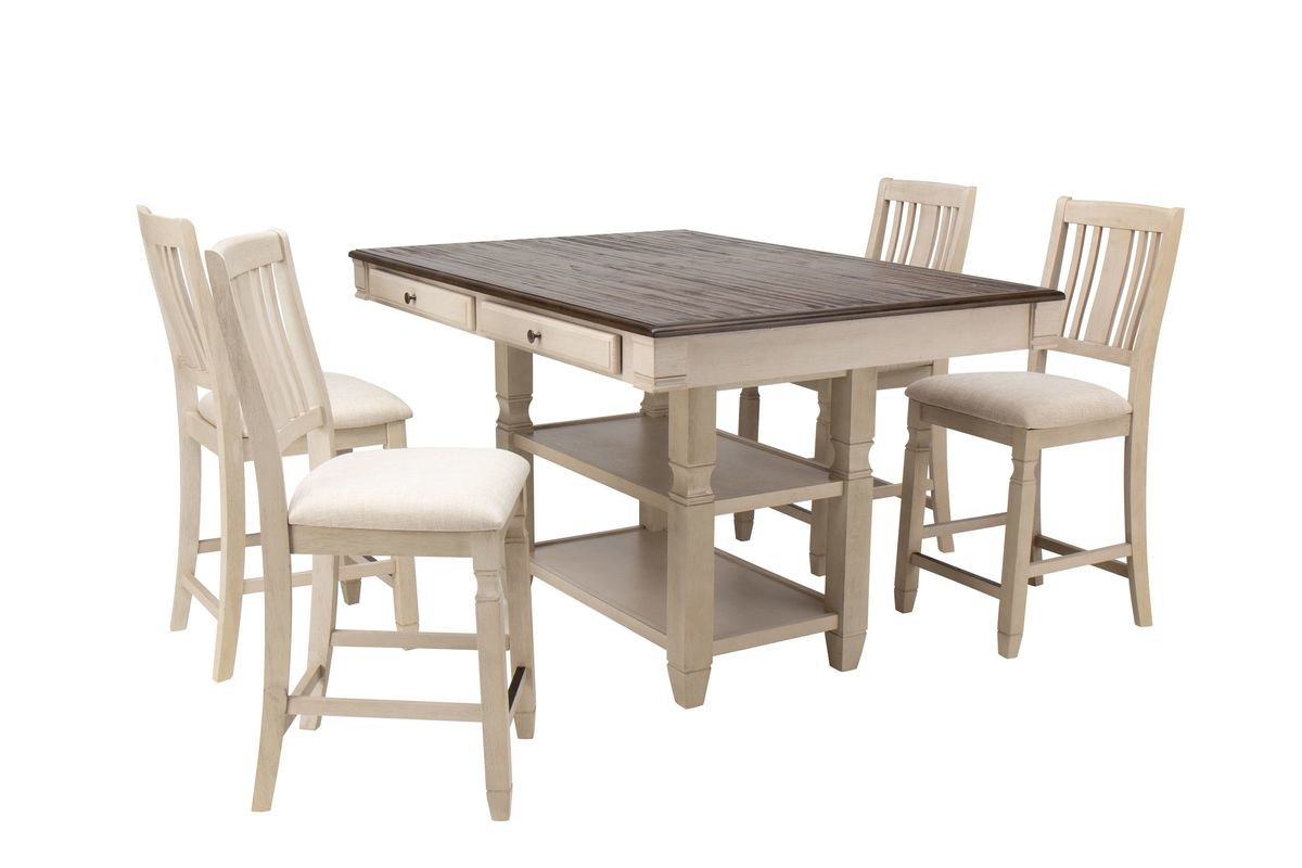 Venus Gathering Table + 4 Gathering Chairs from Gardner-White Furniture
