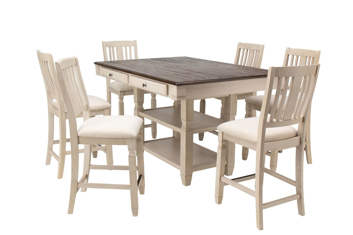 Venus Gathering Table + 6 Gathering Chairs from Gardner-White Furniture