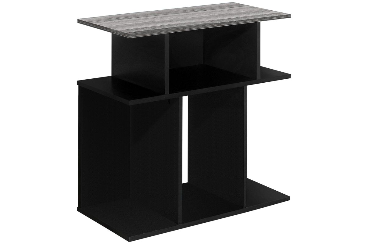 Black And Grey Accent Side Table By Monarch At Gardner White