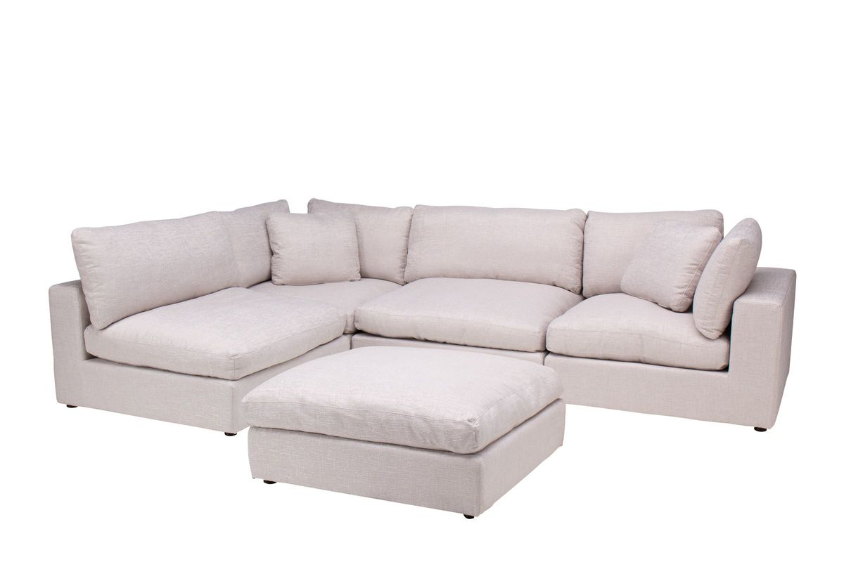 Chelsey Sectional + Ottoman from Gardner-White Furniture
