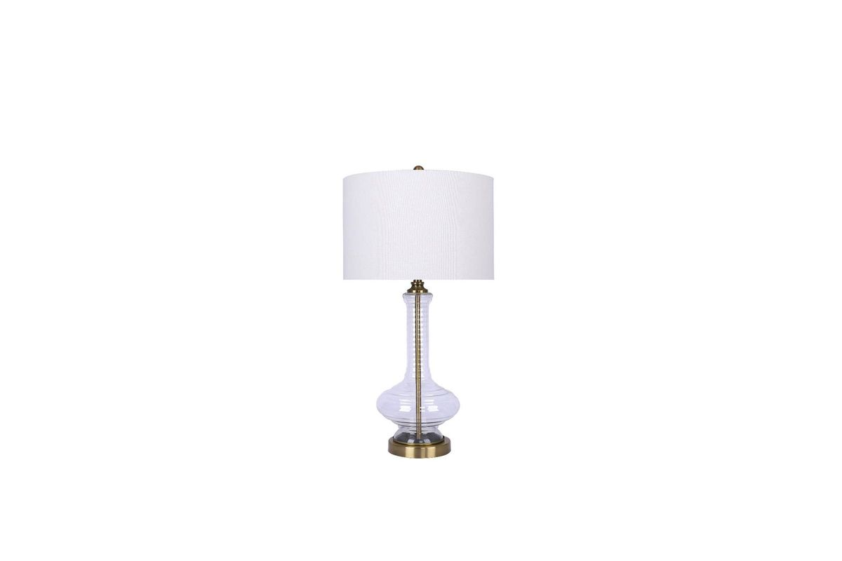 Clear Glass & Gold Lamp from Gardner-White Furniture