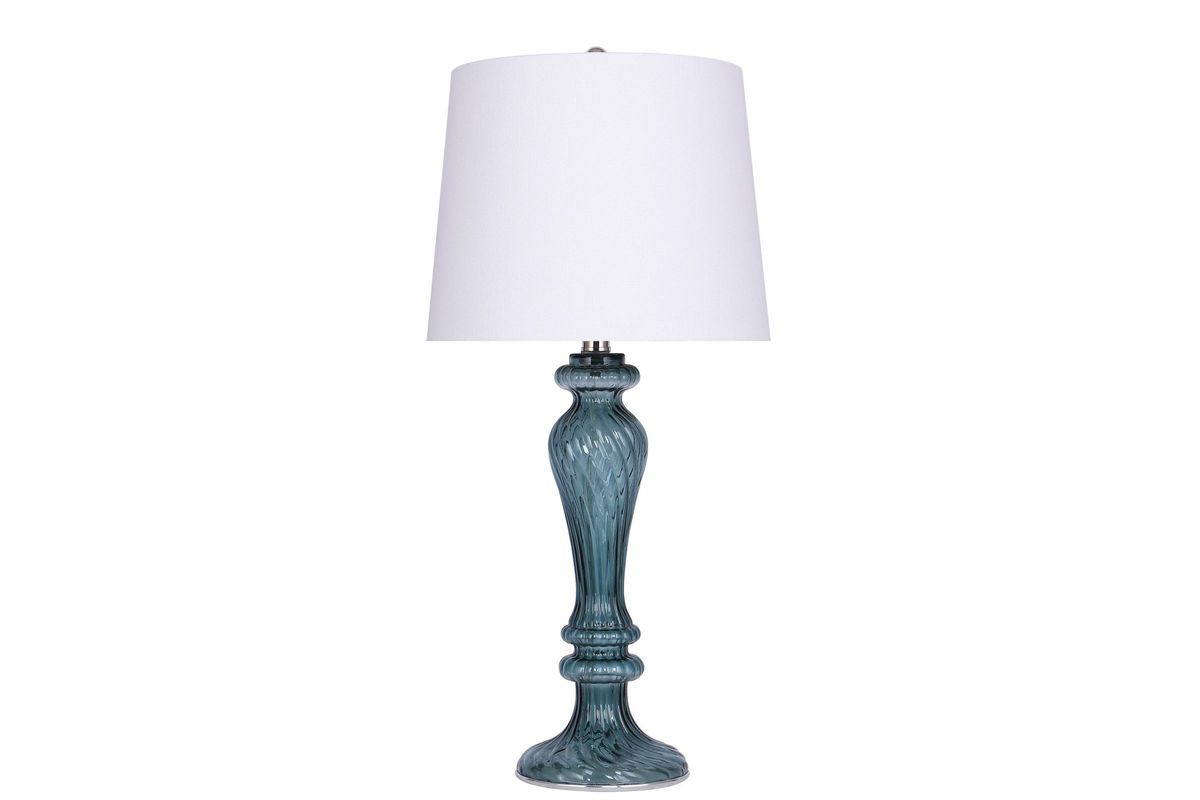 Blue Glass Table Lamp from Gardner-White Furniture