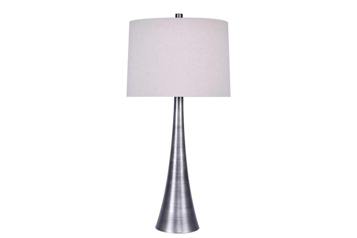 Brush Silver Metal 30 Table Lamp