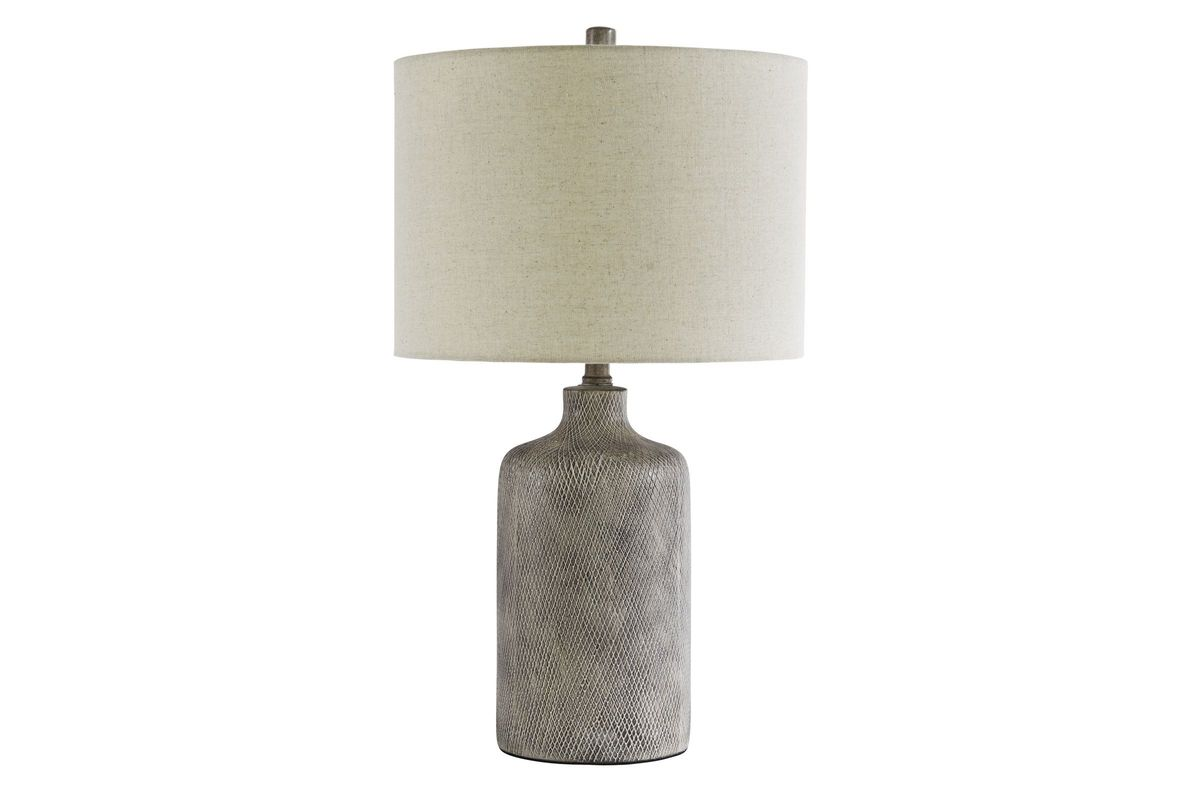 Linus Grey Ceramic Table Lamp from Gardner-White Furniture