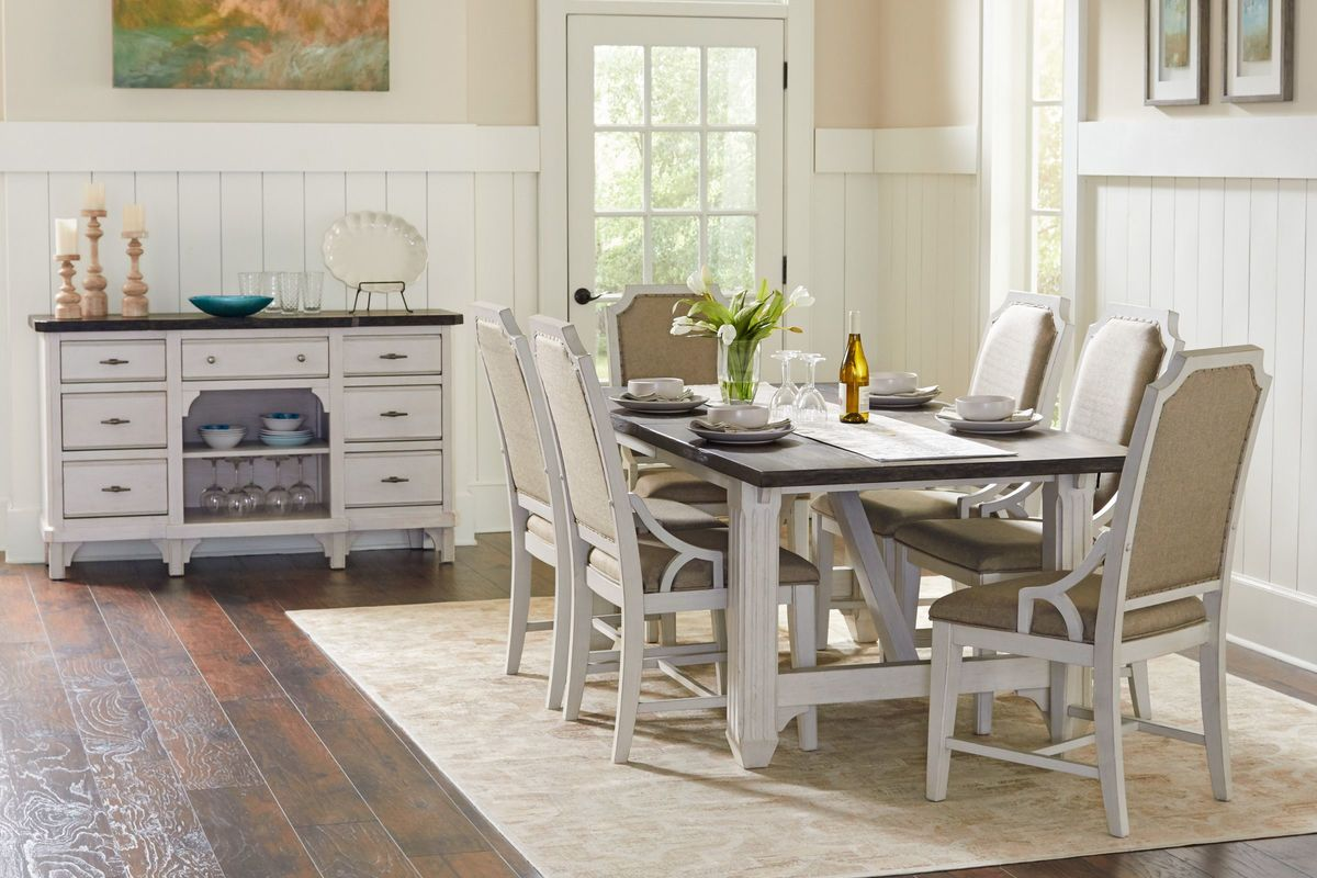 Mystic Dining Table + 6 Side Chairs from Gardner-White Furniture
