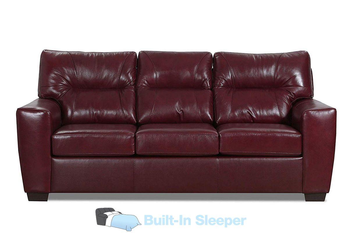 Cora Leather Sleeper Sofa