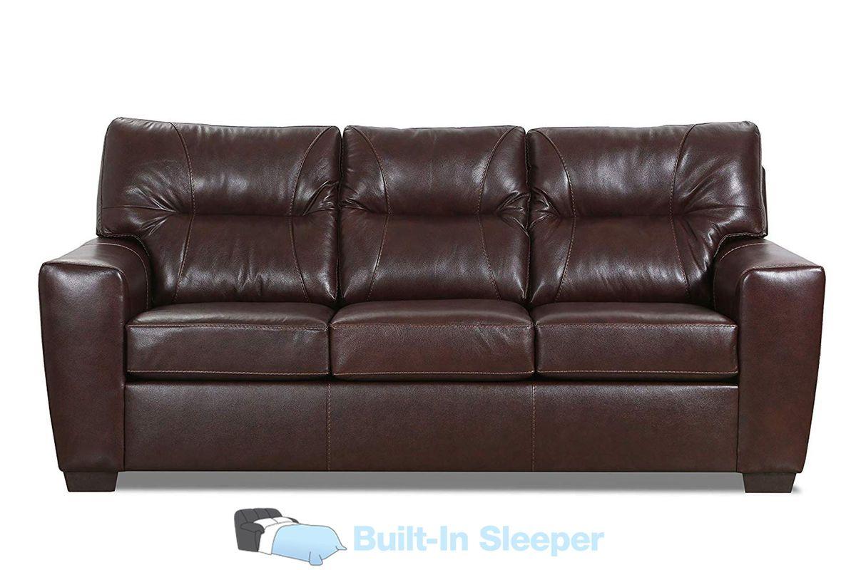 Corbin Leather Queen Sleeper Sofa