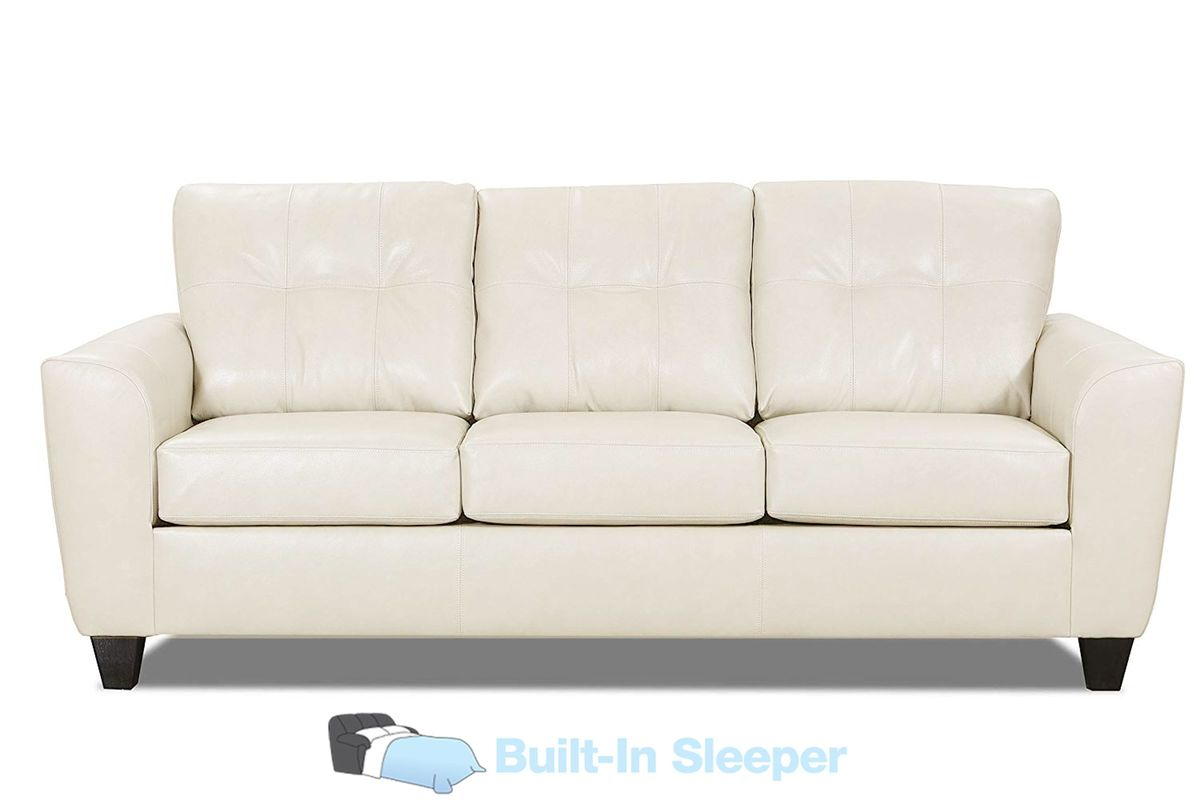 Cisco Leather Queen Sleeper Sofa at Gardner-White