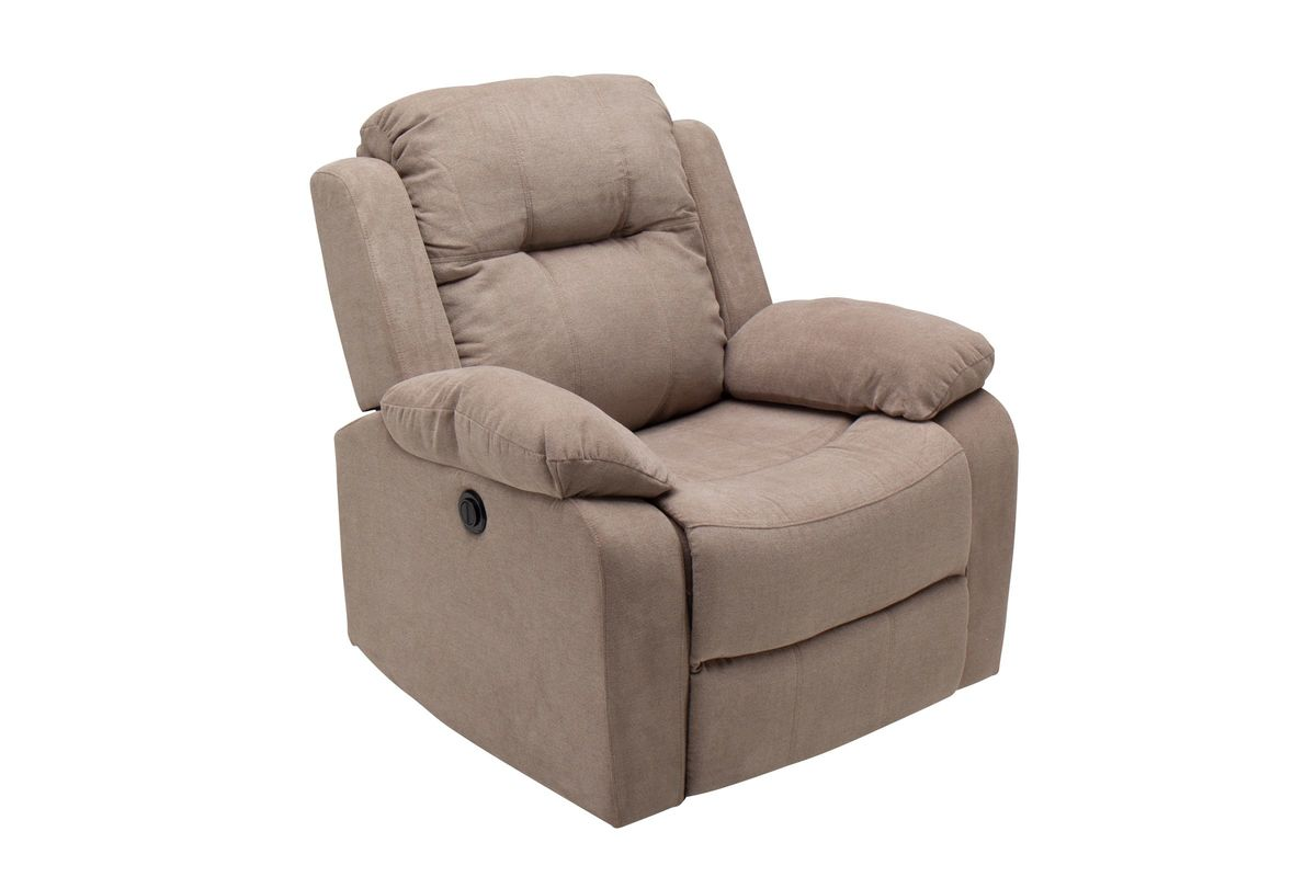 Cosmo Taupe Microfiber Power Recliner from Gardner-White Furniture