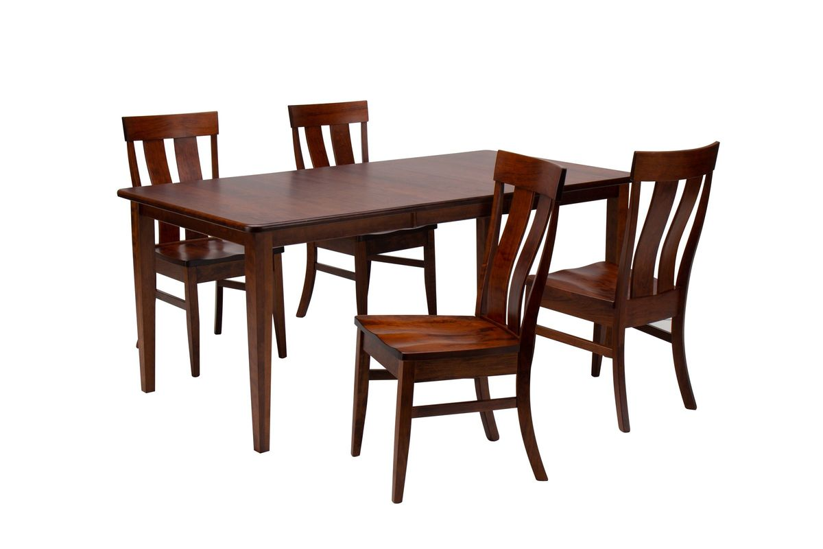 Franklin Solid Wood Dining Table + 4 Side Chairs by Daniel\'s Amish