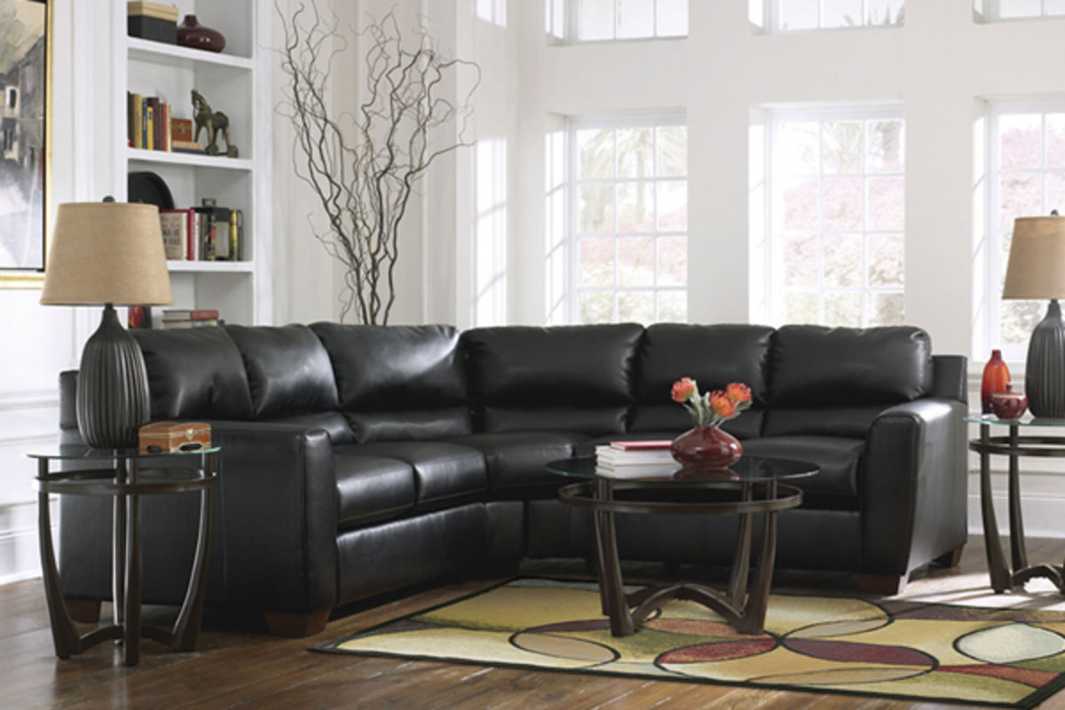 Onyx Durablend™ Leather Sectional from Gardner-White Furniture : gardner white sectionals - Sectionals, Sofas & Couches