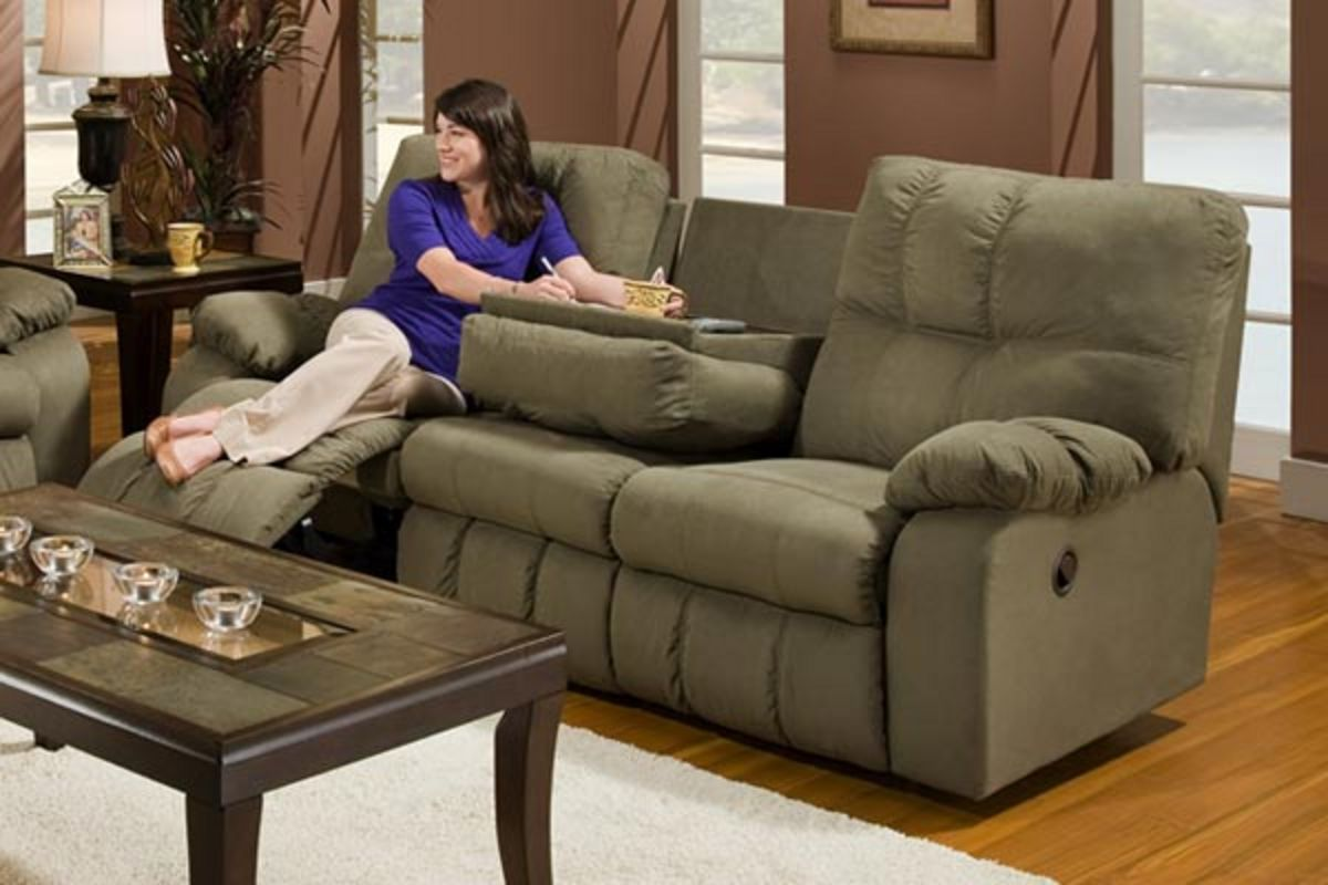 Safara Sage Microfiber Reclining Sofa From Gardner White Furniture