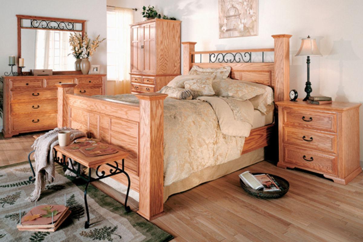 Thornwood king oak bed at gardner white