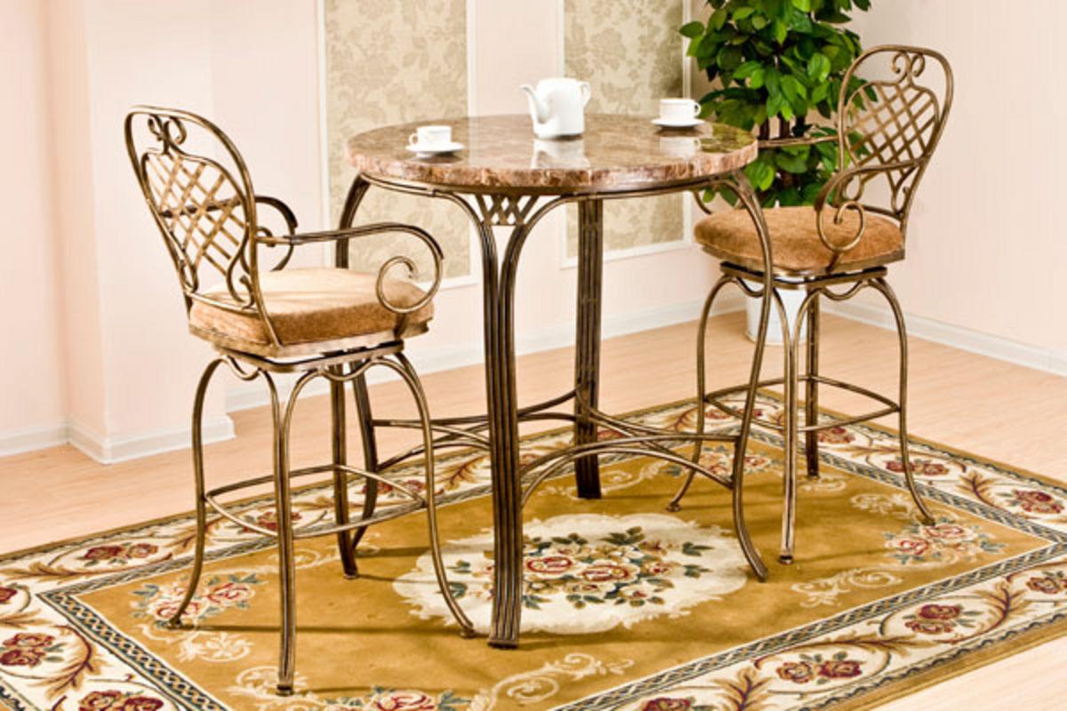 Allegra Gathering Table 4 Swivel Barstools From Gardner White Furniture