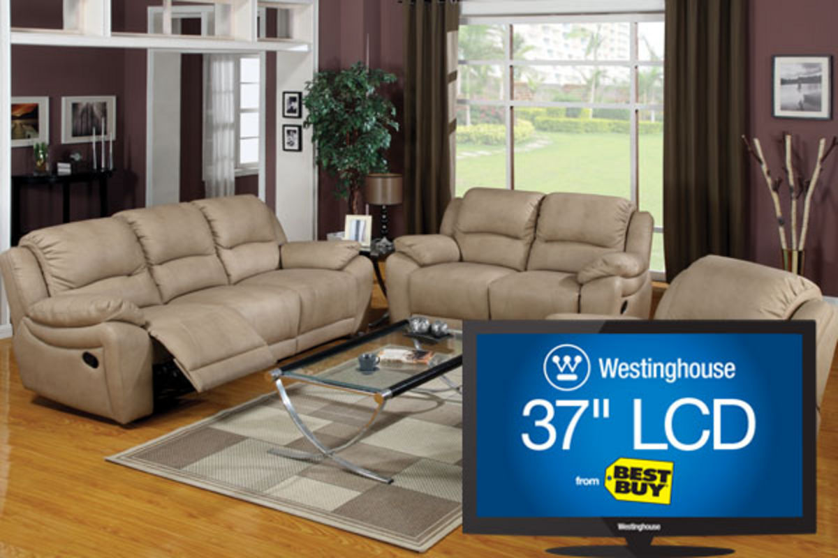 Wendel Leather Reclining Sofa, Loveseat & 37\