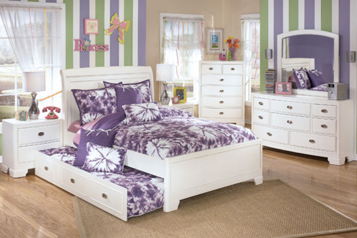 Alyn Dresser Mirror Chest Full Size Trundle Bed At Gardner White