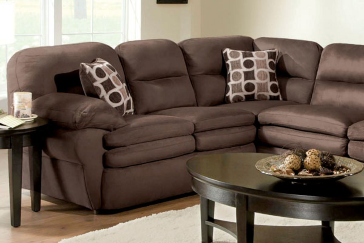 Shiloh 3 Piece Microfiber Sectional