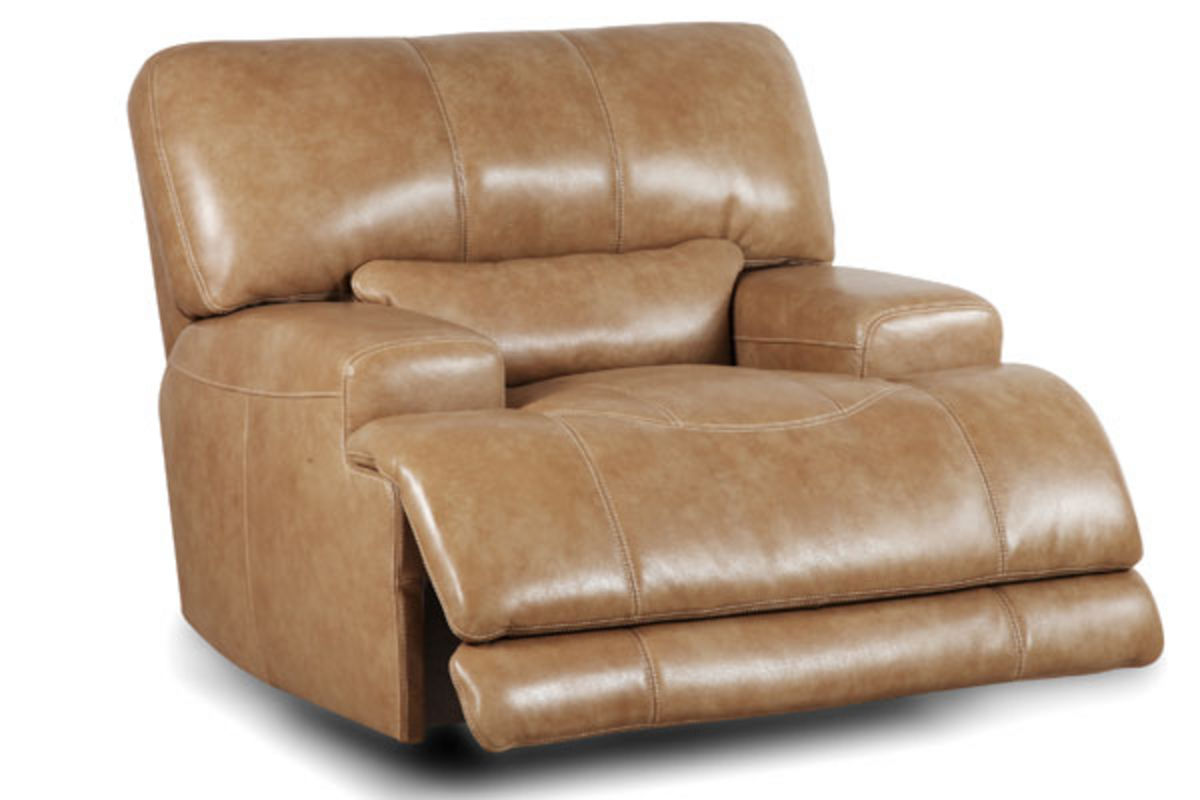 hamlin power leather recliner from furniture