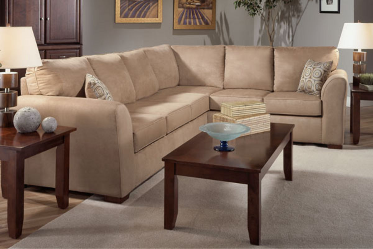 Tanner 2 Piece Microfiber Sectional From Gardner White Furniture
