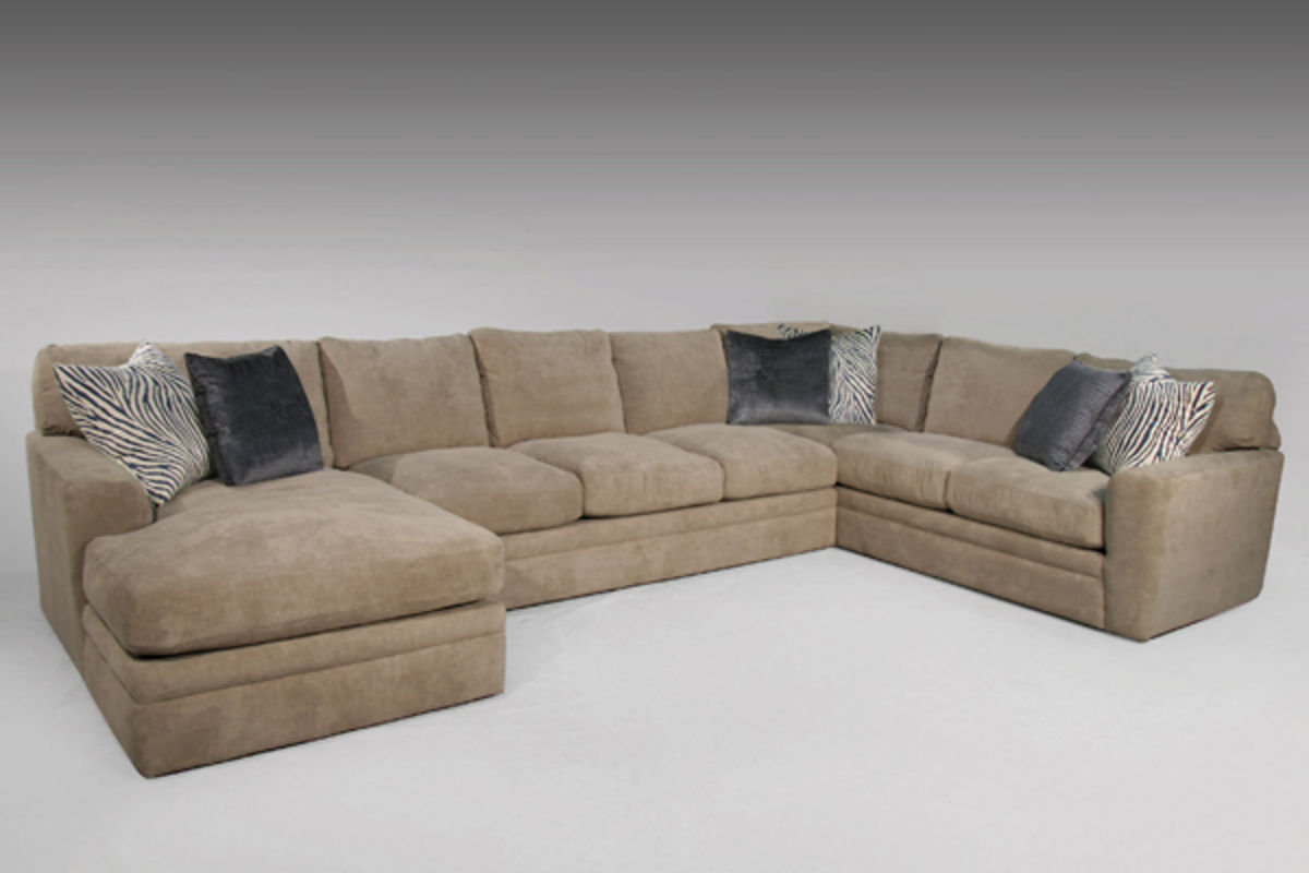 Surprising Gibson Taupe Sectional With Ottoman Onthecornerstone Fun Painted Chair Ideas Images Onthecornerstoneorg