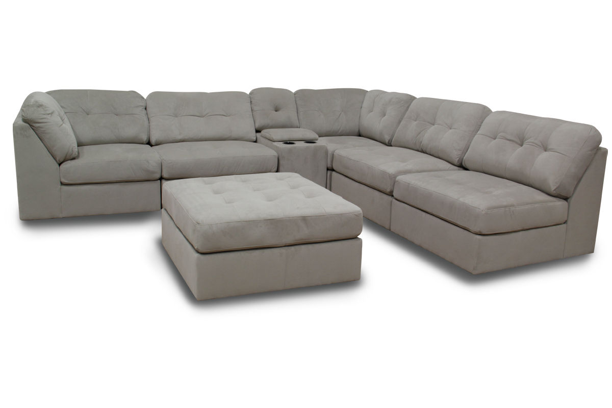 Swell Hillsdale 6 Piece Microfiber Sectional With Ottoman Machost Co Dining Chair Design Ideas Machostcouk