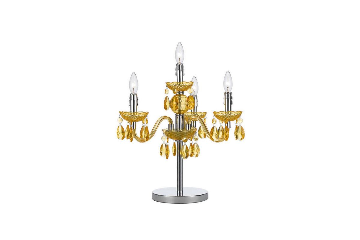 Fulton Gold Chandelier Table Lamp At Gardner White