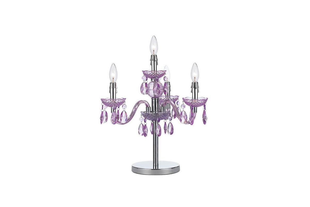 Fulton Purple Chandelier Table Lamp At Gardner White