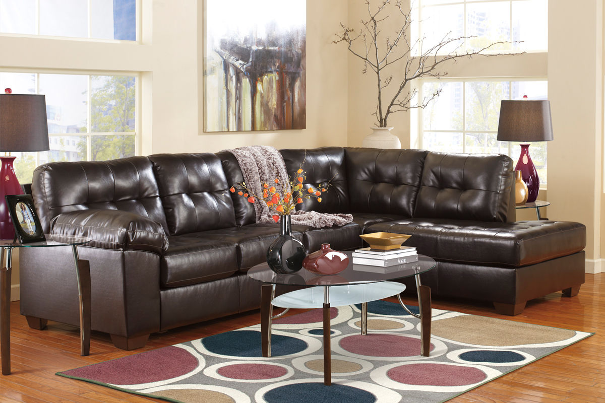 Alliston Bonded Leather Sectional