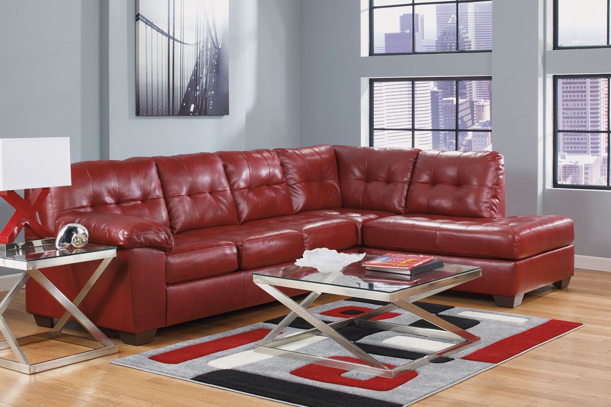 Exceptionnel Ashley Red Leather Sofa Bastrop Red Leather Sofa Steal A